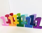 Glittered Number for Birthday Photoshoot - ROYGBIV - Rainbow Large Numbers for Smash Cake Sessions