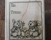 To and From Carolers Single Stamp #A15