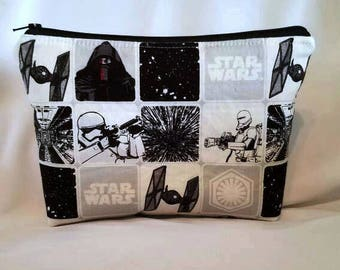 Ready to ship//Star wars cosmetic bag//Large zipper Cosmetic/accessory Pouch