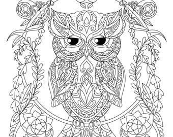 regal owl coloring pageowl coloring pagecoloring pageowl coloringowl - Owl Coloring Pages