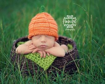 Baby Halloween Pumpkin Costume ~ Newborn Pumpkin Halloween Costume ~ Baby Pumpkin Halloween Hat ~ Newborn Halloween Pumpkin Outfit ~ Pumpkin