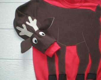 Reindeer sweatshirt, Deer sweatshirt, deer shirt, Ugly Christmas sweater, Christmas sweatshirt, Holiday shirt, adult unisex sizes