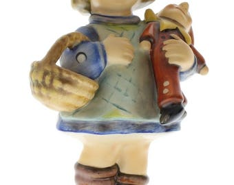Goebel Hummel Figurine #422 What Now TMK 6 Little Girl with Doll and Basket