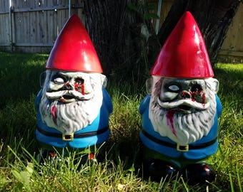 Zombie garden gnome cookie jar