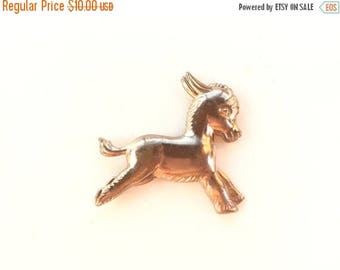 MASSIVE CLEARANCE Adorable Vintage  Donkey Figural Pin in Rose Gold Colored Metal