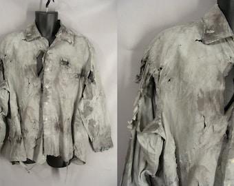 XL Realistic Zombie Costume Shirt. BLOOD OPTIONAl. Halloween Costume. The Walking Dead Costume. Vampire Werewolf Costume. Post Apocalyptic.