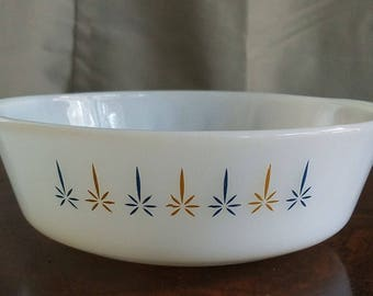 Vintage Mid Century Anchor Hocking/Fire King Candle Glow/Candleglow #436 1 Qt Casserole/Baking Dish