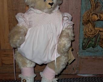 """Threadbears mohair teddy 20"""" bear by Jackie Revitt 1992 1/15"""