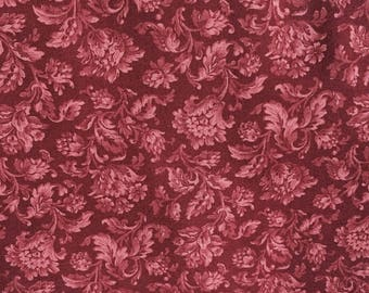 RJR Fabric, 7019-2, floral, Red, Maroon