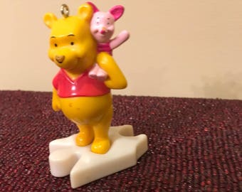 Vintage  Winnie the Pooh Recycled Happy Meal Toy Christmas Ornament