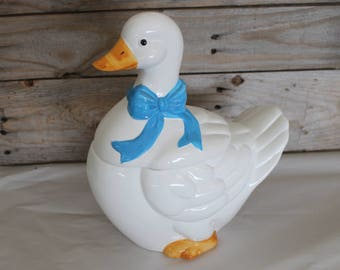Vintage ROC Goose Duck Cookie Jar Made in Taiwan Republic of China