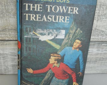 Vintage The Hardy Boys #1 1959 The Tower Treasure Franklin W. Dixon, Hardcover Book