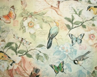 Bird Fabric, Susan Winget, By The Yard, Quilting Fabric, Sewing Fabric, Birds Of A Feather Collection, Spring Summer Fabric, Cotton