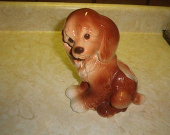 vintage spaniel dog figurine figure planter