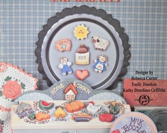 Little Whittles Kitchen Decor and Magnets Decorative Painting Book, by Provo Craft, Vintage 1995