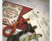 Pre-order Classic Colorworks Autumn Spice Pine Needles Nature Trail hand-dyed embroidery floss FREE pattern when you buy all 3