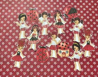 HUGE LOT of FIFTY ladybug diva stickers. All 4 ladybug sticker sets from my store.Will fit most planners