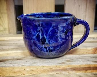 Mini mixing bowl / dressing pitcher /  creamer / mini batter bowl / handmade creamer / pottery creamer / pottery prep bowl / pottery bowl