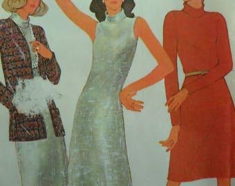 EVENING DRESS Pattern • McCall's 3826 • Miss 10 • Sleeveless Dress & Turban Pattern • Sewing Patterns • Vintage Patterns • WhiletheCatNaps