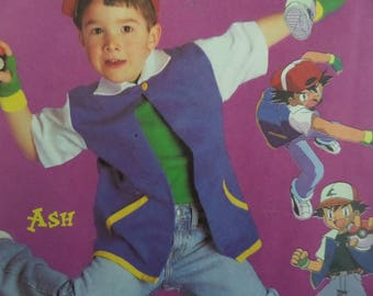 ASH KETCHUM Pattern • McCalls 3002 • Childs 4-6 • Pokemon Costume • Cosplay • Ash Coat • Sewing Pattern • Costume Patterns • WhiletheCatNaps