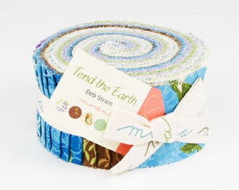 Tend the Earth Jelly Roll by Deb Strain for Moda Fabrics 19540JR