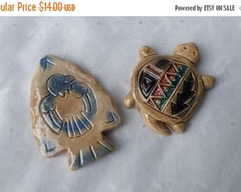 CHRISTMAS in JULY SALE Set of Southwestern Style Refrigerator Office Magnets