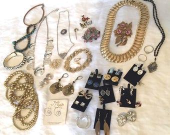 Vintage Rhinestone Coro Jody Coyote Coro Disney Sarah Coventry Jewelry Lot