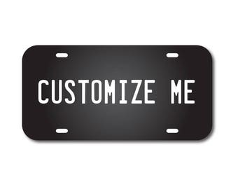 Mirrored Acrylic License Plate Black Custom Car Tag Custom Personalized Mirrored Business Logo Monogram