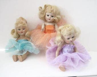 """Ballet Costume for Vintage Ginny Muffie Doll 8"""" Doll Tutu"""