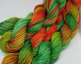 Mini Skein sock fingering yarn 20g Superwash Merino and nylon Hand dyed knitting, crochet wool