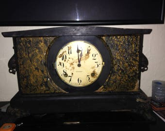 Antique Gilbert Mantel Clock 2817 Claw feet Claw foot Non Working - At Everything Vintage Shipping is on Us!