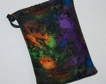 """Pipe Pouch, Trippy Pipe Case, Pipe Bag, Glass Pipe Case, Padded Pipe Pouch, Weed, Smoking Accessory, 420, Stoner, Hippy Gift - 7"""" DRAWSTRING"""