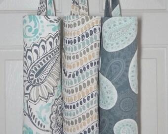 SPRING FORWARD SALE Plastic Bag Holder Grocery Bag Storage Kitchen Bag Storage Brown Copper Paisley Floral Chevron  Storage Bag Holder