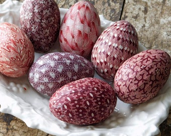 Red Easter Egg Decorations, Country Farmhouse Decor