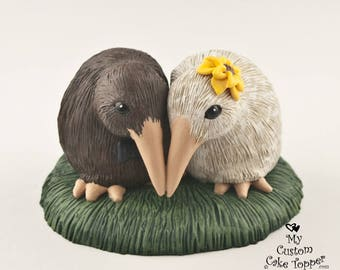 Kiwi Love Wedding Cake Topper