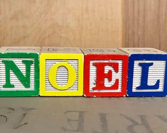 NOEL or HOPE baby blocks sign