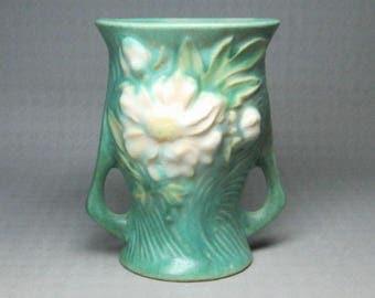 """Roseville pottery vase 57 - 4"""" peony"""
