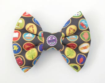 The Wilderness Explorer Badges Handmade Bow (Handmade Bow / Bow Tie / or Headband)