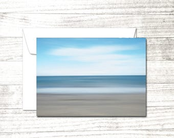 Beach Note Card | Crane Beach | impressionist photograph | Blank Greeting Card | Card for ocean lover
