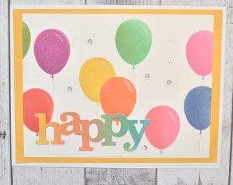 Birthday Card Birthday Balloon Handmade Card