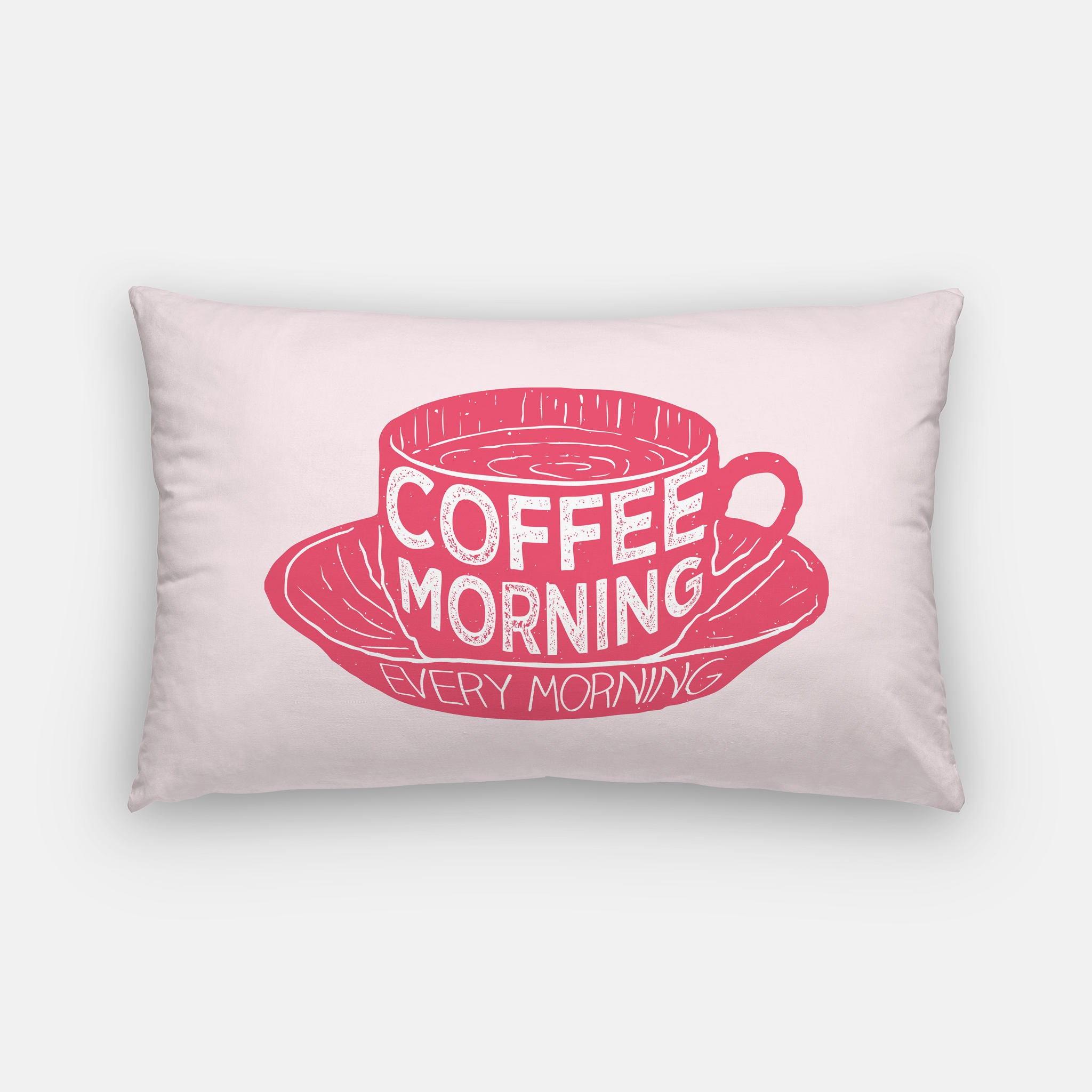 coffee pillow pink coffee decor coffee home decor lumbar