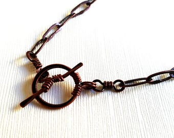Hand made copper chain