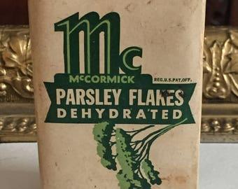 Vintage McCormick Parsley Flake Spice Tin