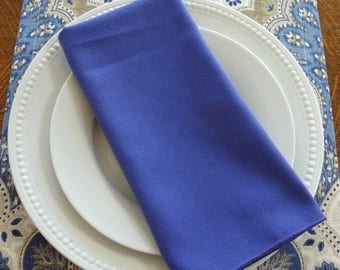 FALL is COMING SALE Sale Dark Purple Periwinkle Napkin Table Decor Dining Room Size 19x19 Napkins
