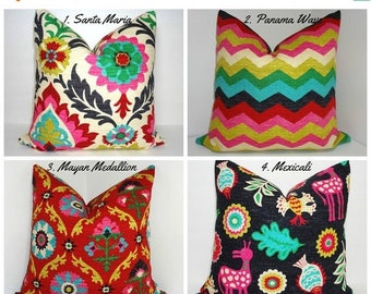 FALL is COMING SALE Waverly Desert Flower Collection Medallion Panama Wave Santa Maria Mexicali Pillow Covers Choose Size & Fabric