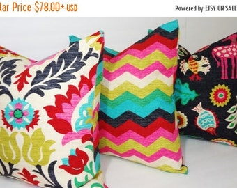 SPRING FORWARD SALE Waverly Trio Santa Maria Desert Flower Panama Wave Mexicali Pillow Covers Decorative Pillow Choose Size