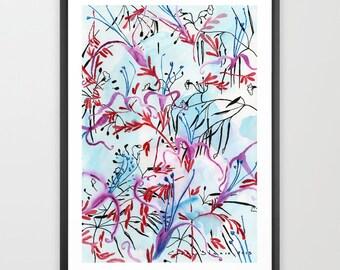 Printable flowers. Watercolor printable. Downloadable prints. Floral Printable. Art download. Flower printable. Watercolor download
