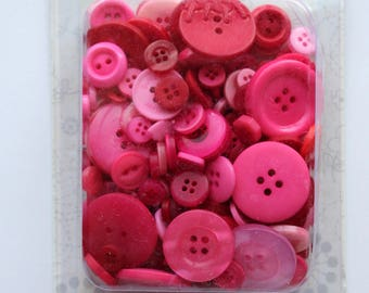 KimberBell Pink and Red Button Collection