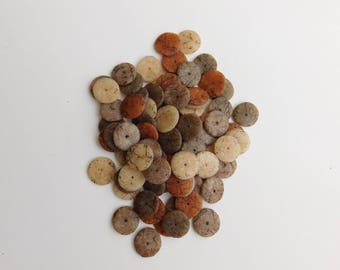 Polymer Clay Disc Beads, 11 mm flat disc spacer beads in Earth tone colors
