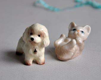 Vintage Miniature Dog and Cat